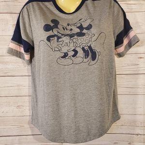 Disney Mickey & Minnie Gray Tee